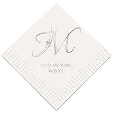 Decorative Initial Monogram Printed Paper Napkins