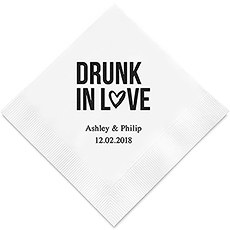 Drunk In Love Printed Paper Napkins