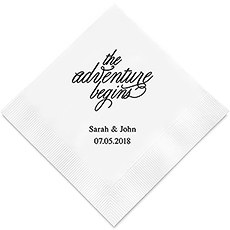 The Adventure Begins Printed Paper Napkins