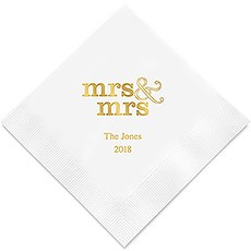 Mrs & Mrs Same Sex - Standard Printed Napkins