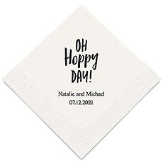 Personalized Foil Printed Paper Napkins - Oh Hoppy Day!