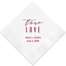 True Love - Modern Printed Napkins