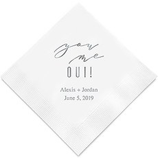 Personalized Foil Printed Paper Napkins - You Me Oui!