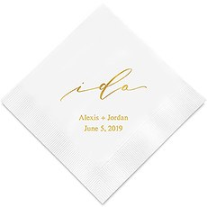I Do Printed Napkins