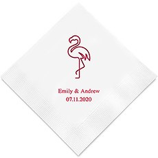 Flamingo Printed Napkins
