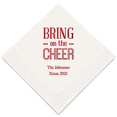 Personalized Foil Printed Paper Napkins - Bring On The Cheer