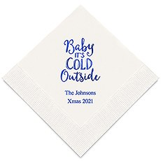 Personalized Foil Printed Paper Napkins - Baby It's Cold Outside