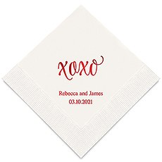 Personalized Foil Printed Paper Napkins - xoxo'
