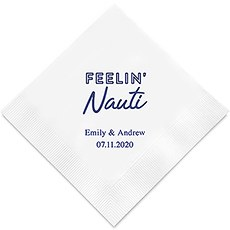 Personalized Foil Printed Paper Napkins - Feelin Nauti