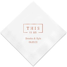 Personalized Foil Printed Paper Napkins - This Is Us