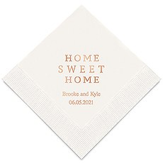 Personalized Foil Printed Paper Napkins - Home Sweet Home