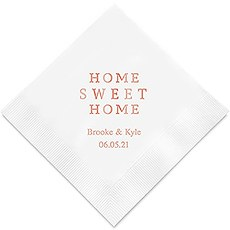 Home Sweet Home Printed Napkins