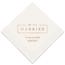 We Are Married Printed Napkins