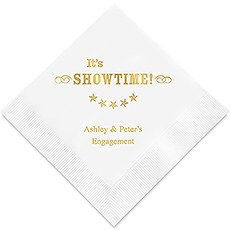 Personalized Foil Printed Paper Napkins - It's Showtime!
