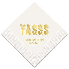 Personalized Foil Printed Paper Napkins - YASSS