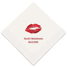 Personalized Foil Printed Paper Napkins - Kiss