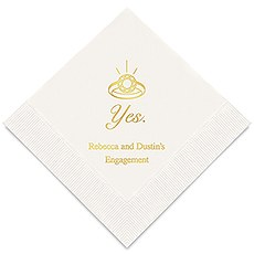 Yes To The Ring Printed Paper Napkins