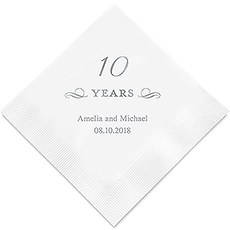 10 Years Printed Paper Napkins