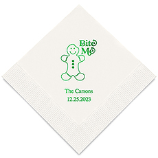 Personalized Foil Printed Paper Napkins - Gingerbread Man