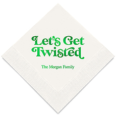 Personalized Foil Printed Paper Napkins - Let's Get Twisted