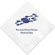 Two Less Fish in the Sea Printed Paper Napkins