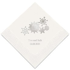 Winter Finery Snowflake Printed Paper Napkins