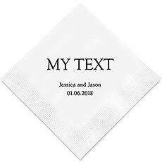 Personalized Foil Printed Paper Napkins - Custom Word