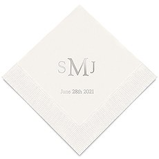 Traditional Monogram Printed Paper Napkins