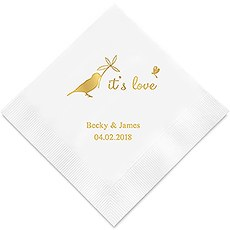 Personalized Foil Printed Paper Napkins - Whimsical Garden