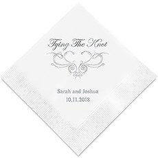 Personalized Foil Printed Paper Napkins - Tying The Knot