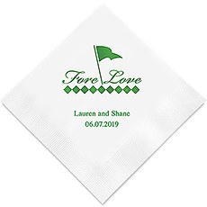 Personalized Foil Printed Paper Napkins - Golf