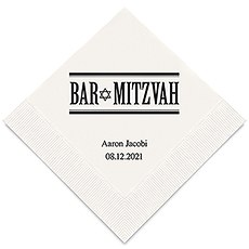Personalized Foil Printed Paper Napkins - Bar Mitzvah