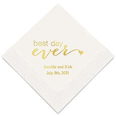 Best Day Ever Printed Paper Napkins