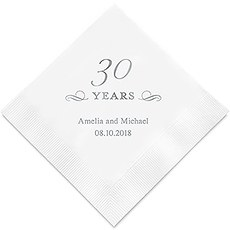 30 Years Printed Paper Napkins