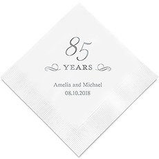 85 Years Printed Paper Napkins