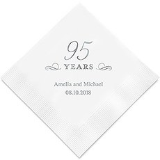 Personalized Foil Printed Paper Napkins - 95 Years