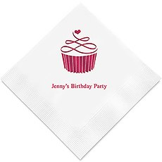 Personalized Foil Printed Paper Napkins - Topped With Love