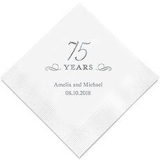 75 Years Printed Paper Napkins