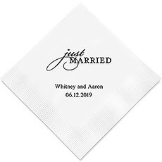 Just Married Printed Paper Napkins