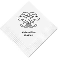 Personalized Foil Printed Paper Napkins - Infinite Heart