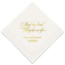Happily Ever After Printed Paper Napkins