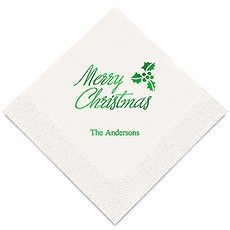 Merry Christmas Printed Paper Napkins