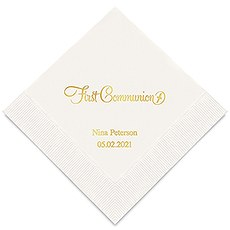 First Communion Printed Paper Napkins