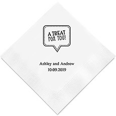 Personalized Foil Printed Paper Napkins - A Treat for You