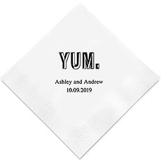 Personalized Foil Printed Paper Napkins - Yum