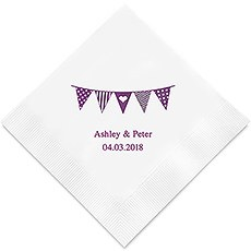 Personalized Foil Printed Paper Napkins - Pennants