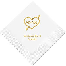 Me+You in Heart and Arrow Printed Paper Napkins