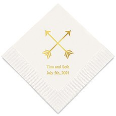 Personalized Foil Printed Paper Napkins - Double Arrows