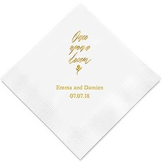 Personalized Foil Printed Paper Napkins - Once Upon A Dream