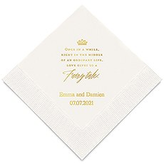 Love Gives Us A Fairy Tale Printed Napkins